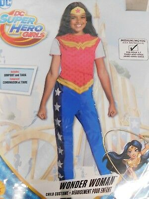 DC Superhero Girl's Wonder Woman Halloween Dress-Up Costume 8-10 Medium #7344 - Superhero Girl Costumes Halloween