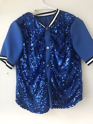 Baseball Halloween Outfits (Baseball Sequins Jersey Button Up Short Sleeved Halloween/Dance Costume With)