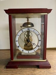 Bulova table top clock, classic dial, bell. Made in Germany