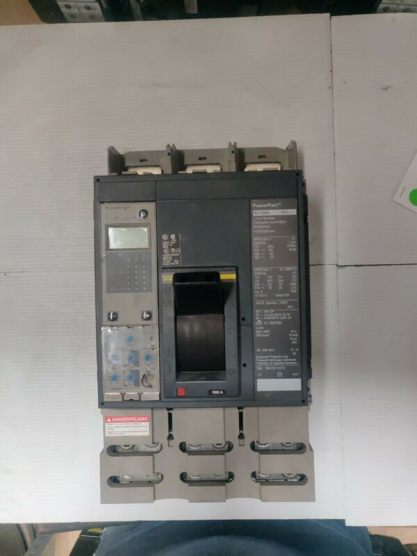 SQUARE D POWERPACT PG1000 CIRCUIT BREAKER WITH MICROLOGIC 6.0 A CONTROL UNIT