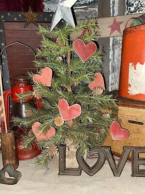 Heart Metal Decorations Distressed Paint Finish White Painted Christmas Decorations Hanging Star Glitter Hearts