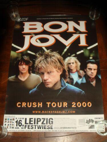 Rare BON JOVI August 2000 LEIPZIG FESTWIESE GERMANY CONCERT POSTER Crush Tour