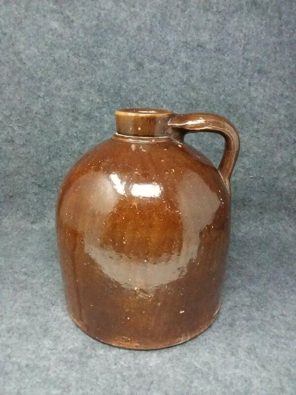 C. HERMANN & Co. Brown Stoneware Glazed Pottery Jug Milwaukee Wiscosnin