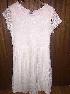 Girls White Lace Dress