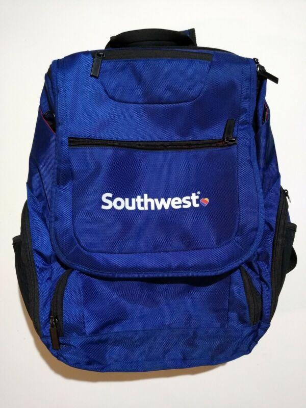Southwest Airlines Laptop Backpack Messenger Bag Blue, Red, and Black