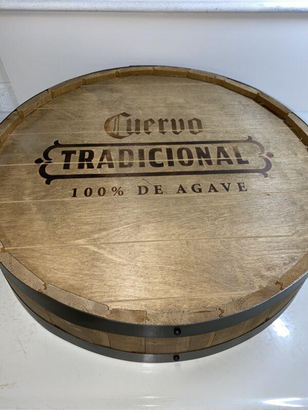 """Cuervo Tradicional 100% De Agave Keg Barrel Head Man Cave 22"""" Round Sign"""