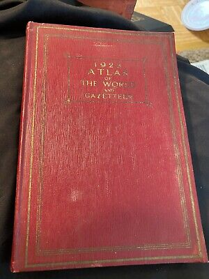 Vintage 1923 Atlas of the World and Gazetteer Funk and Wagnalls Company A008