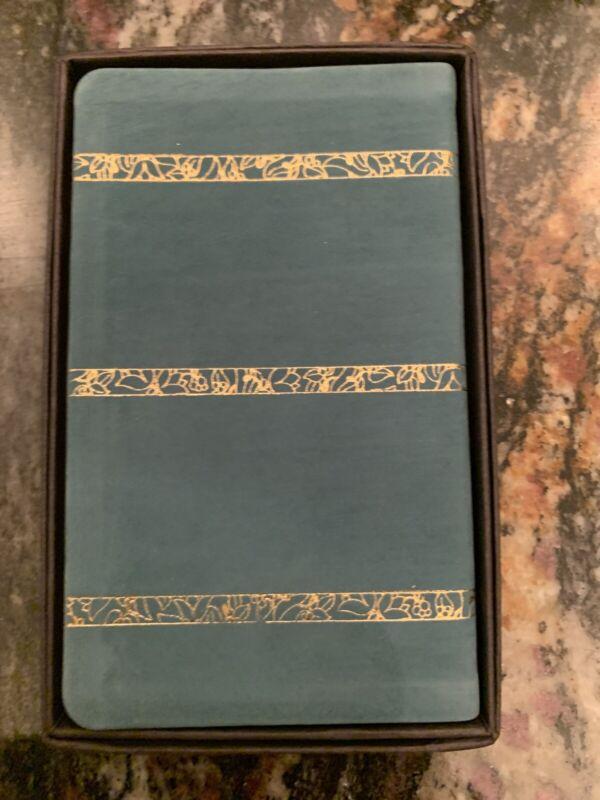 Vintage Michael Graves Leather Dark Green 1991 Calendar Pocket Planner book B