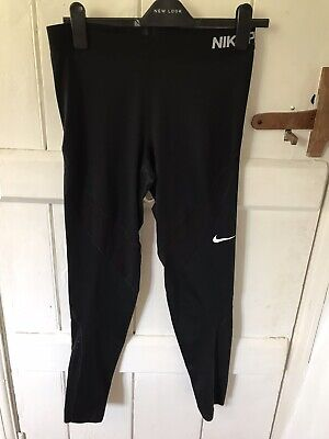 Nike Pro Dri Fit Black Leggings Running Size L
