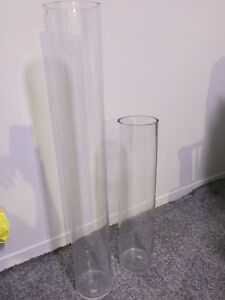 Tall Glass Vases - Cylinder