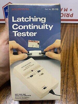 Vintage Radioshack Micronta 22-110 Latching Continuity Tester