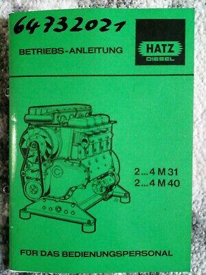 Original HATZ Diesel Motor Betriebs Anleitung2.3.4 M31 / 2...4 M40 von 1986  comprar usado  Enviando para Brazil