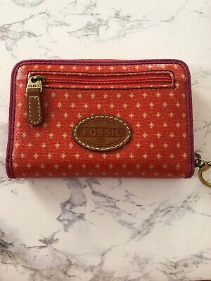 Fossil Zipper Wallet, PVC, Used 100% Authentic 100% Pvc Wallet