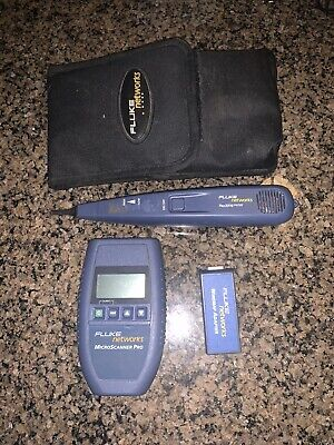 Fluke Networks Microscanner Pro And Pro3000 Probe With Wiremap Adapter And Case