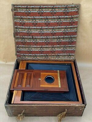 Antique 18x22 In. Very Large Dry Plate Wooden Camera & Film Holder 11x14 & 14x17, used for sale  Shipping to India