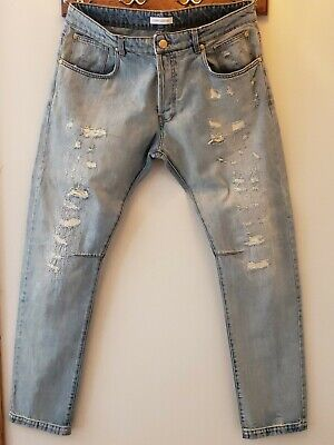 Pierre Balmain Distressed Jeans 40 X 34