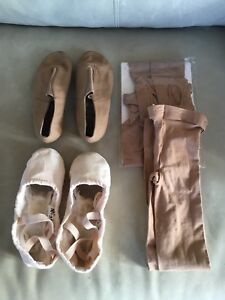 Dance shoes and tights