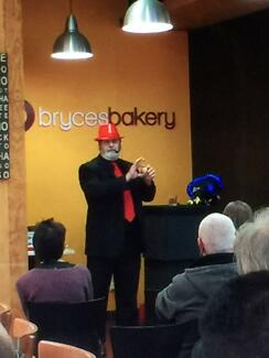 Magician Adelaide, Stage magic and tricks, Reg's Comedy Magic.