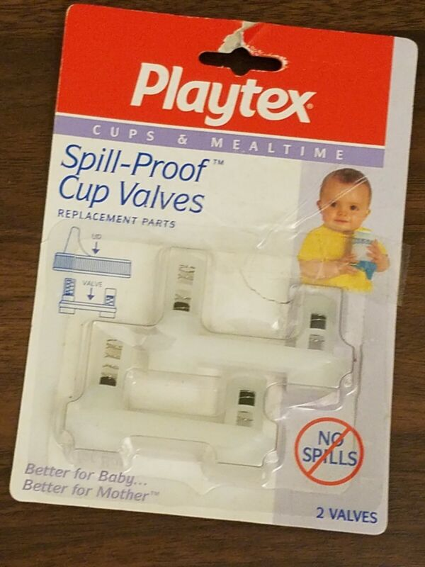 Playtex Replacement Valves SipEase Spill-Proof Cups Horizontal Old 1995 PROP
