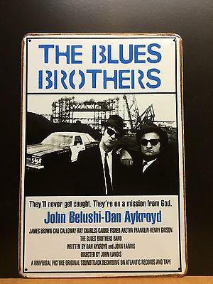 THE BLUES BROTHERS-John Belushi-Dan Aykroyd,Classic Movie Poster,SmallMetal Sign