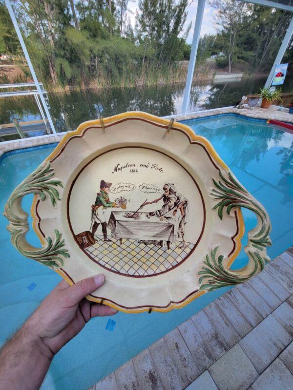 RARE Antique 1814 Napoleon & Fate advertisement DIVINATION Tarot Fortune Bowl