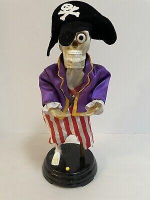 "Pirate Skeleton, Animated 16""Halloween Gemmy Industries,Talks See Description"