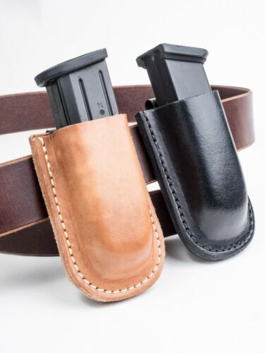 Beretta, FNS, Ruger, S&W | Full Grain Leather Magazine Pouch - IWB & OWB Carry