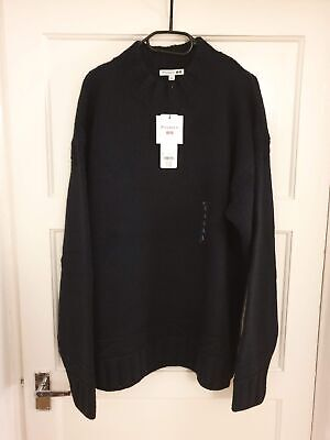 Uniqlo x J.W. Anderson Low Gauge Crew Neck Long-Sleeve Sweater Navy - Large