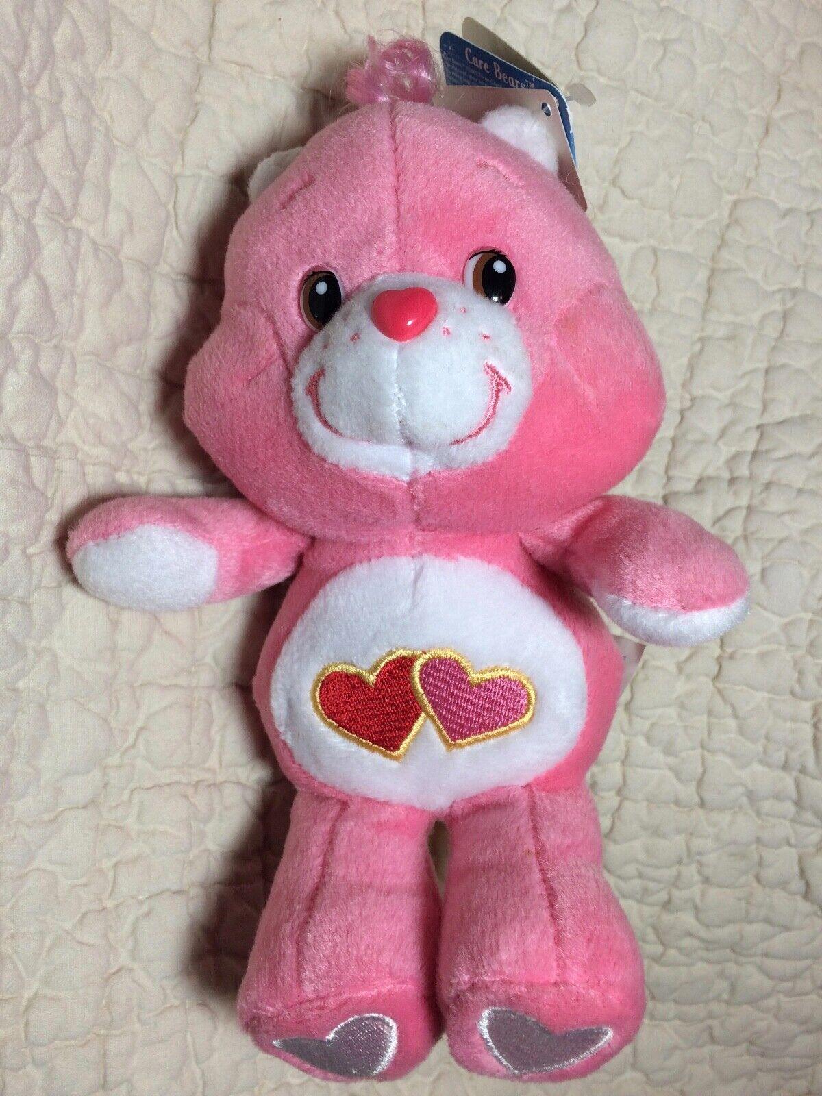 NWT Care Bears 20th Anniversary Love-A-Lot Bear 8 Plush 2002 - $12.00