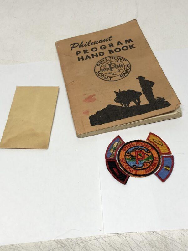 Circa 1950 PHILMONT SCOUT RANCH Boy Scouts DOLLAR PATCH & 4 Segments NM Camp BSA