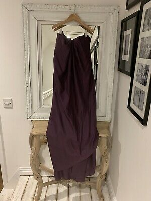 Alexander McQueen Vintage S/S 2005 Draped Silk Bustier Dress UK Size 8