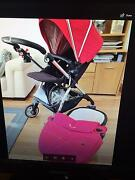 Red Silvercross pram (wayfarer) with bassinet Keilor Downs Brimbank Area Preview