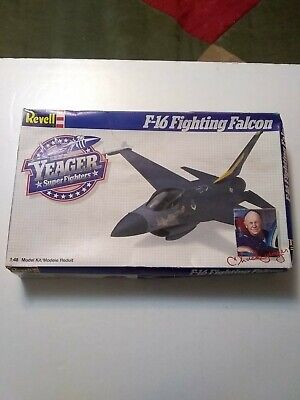 1987 Revell F-16 Fighting Falcon Chuck Yeager 4562 1/48 Scale For Parts