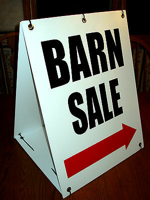 Barn Sale With Arrow Sandwich Board Sign 2-sided Kit New