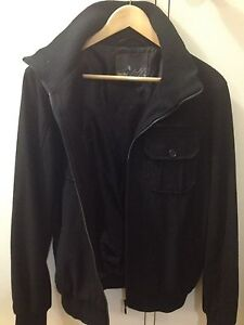 MOSSIMO WOOL JACKET BOMBER ZIP UP STYLE WITH DOUBLE COLLAR Collingwood Park Ipswich City Preview