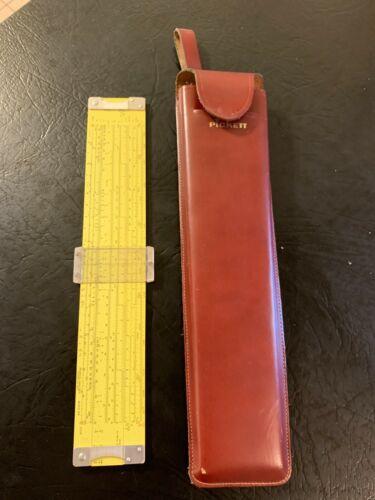Vintage Pickett N-16-ES ELECTRONIC Slide Rule & Leather Case, Excellent Cond.