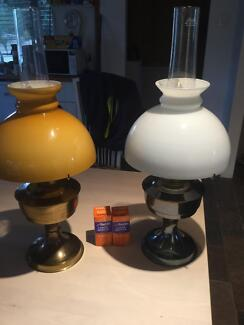 Aladdin Oil Lamps x 2 with wicks and new mantles Stoneville Mundaring Area Preview