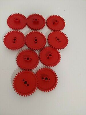 """KNEX K/'Nex RED GEARS 2 1//4/"""" DIA Standard Replacement Parts LOT Of 10"""