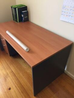 Office Desk / Student Desk with Filing Drawers