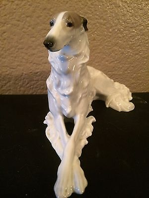 Antique Large Metzler and Ortloff Large Borzoi/Barsoi Wolfhound Figurine