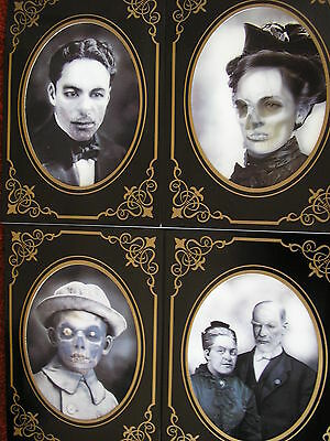 set of 4 halloween haunted 3d effect pictures /photos in frames 7