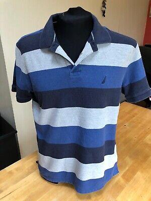 Nautica Men's Striped Polo Shirt Size Medium
