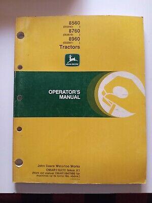 John Deere Operators Manual 8560 8760 8960 Tractor Omar110222 A1