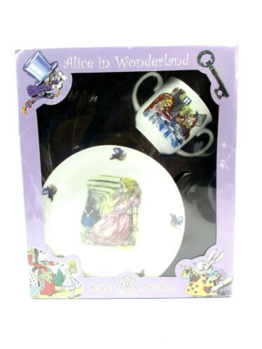 Alice in Wonderland Bowl and Cup Reutter Porzellan 2 piece