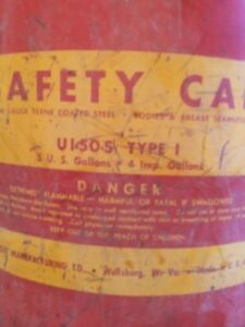 Antique Eagle Manufacturing Safety can