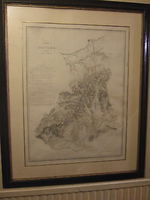 A LARGE ANTIQUE FRAMED HISTORIC ENGRAVED MILITARY MAP THE BATTLE OF ORTHES 1814