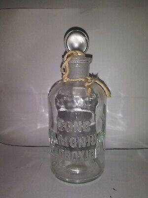Conc Ammonium Hydroxide  Tcw Co  5 Embossed Glass Bottle