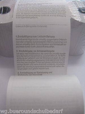 10 x EC-CASH-Thermo-Kassenrollen, 57 x 36 mm,12 lfm, mit SEPA Lastschrifttext