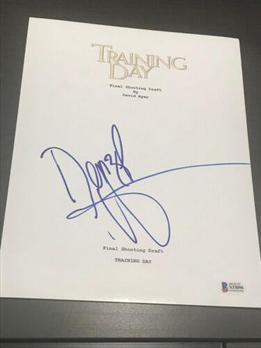 DENZEL WASHINGTON SIGNED TRAINING DAY MOVIE SCRIPT FULL SCRIPT BECKETT BAS COA D