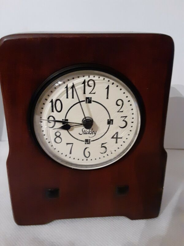 Vintage Antiquities by Stickley Mission Style Cherry Shelf Hermle Clock Germany